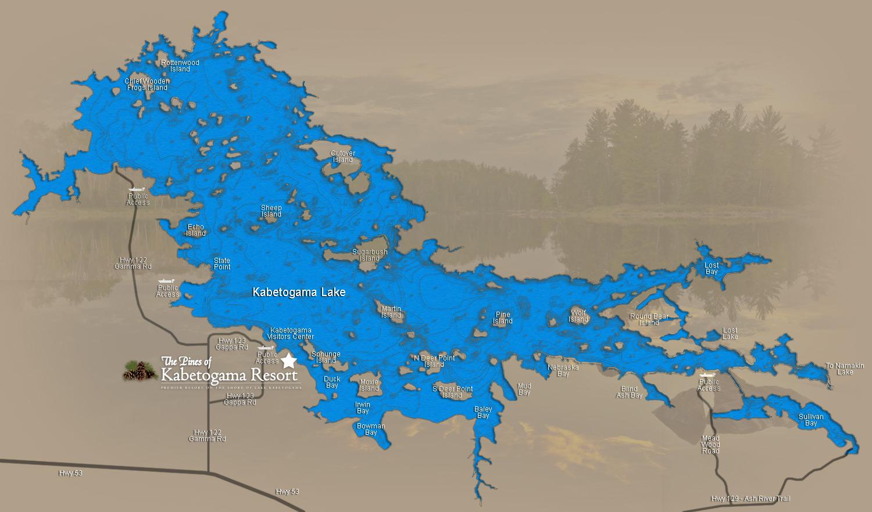 Minnesota lake maps fishing bing images for Kabetogama fishing report