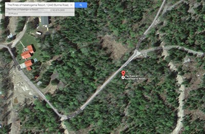 Google Earth view - the Pines